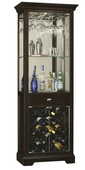 Howard Miller Deluxe CHM4248 Rich Black Coffee Wine Cabinet (Made in USA)