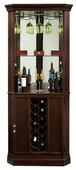 Howard Miller Piedmont III Wooden Wine & Bar Corner Cabinet in Espresso Finish - CHM4272