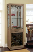 Howard Miller Sienna Bay Wine and Bar Wooden Cabinet in Driftwood finish - CHM2986