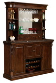 Howard Miller CHM4752 Niagara Deluxe Rustic Cherry Wooden Back Bar Console & Hutch