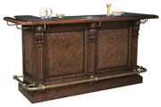 Howard Miller CHM4250 Cheers Deluxe Luxury Distressed Hampton Cherry Wooden Bar