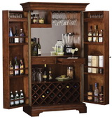 Howard Miller Deluxe CHM2952 Hampton Cherry Hide-A-Bar Wine & Bar Cabinet