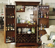 Howard Miller Deluxe CHM1254 Americana Cherry Exceptional Hide-A-Bar Wine Cabinet