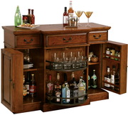 Howard Miller CHM1348 Shiraz Deluxe Medium Finish Wooden Partytime Console Bar