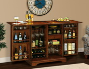 Howard Miller CHM4254 Lodi Deluxe Americana Cherry Stellar Wooden Portable Wine & Bar Cabinet