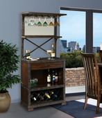 Howard Miller Red Mountain Wine Cabinet Finished In Rustic Hardwood - CHM4258