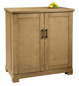 Howard Miller Walker Bay Wine and Bar Console in Driftwood Finish
