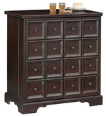 Howard Miller Brunello Deluxe Antique Black Drawer Façade Wooden Portable Hide-a-Bar - CHM4240