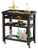 Howard Miller Black Coffee Wooden Wine & Bar Cart - CHM4426