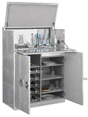 Howard Miller Deluxe CHM5336 Metal Wine Cabinet / Bar