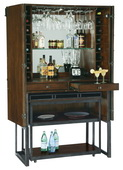 Howard Miller Deluxe CHM5338 Rustic Hardwood Finish Wine Cabinet / Bar