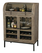 Howard Miller CHM5360 Weathered Gray Finish Wine & Bar Cabinet