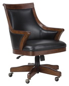Howard Miller Bonavista Club Chair In Distressed Rustic Cherry Finish - CHM4260