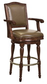 Howard Miller Cheers Deluxe Luxury Distressed Hampton Cherry Wooden Bar Stool - CHM4264