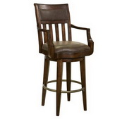 Howard Miller Harbor Springs Bar Stool In Rustic Hardwood Finish - CHM4268