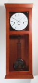 Kieninger Wall Clock Solid Hardwoods Natural Cherry Finish Made in Germany