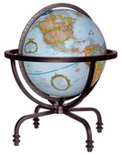 12in Replogle Auburn Blue Deluxe Desk Globe - CRP1895