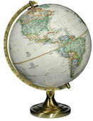 12in National Geographic Grosvenor Deluxe Desk Globe Antique Ocean - CRP1680