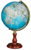 12in National Geographic Hudson Desk Globe Blue Ocean - CRP1686