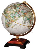 12in National Geographic Bingham Deluxe Desk Globe Antique Ocean - CRP1689