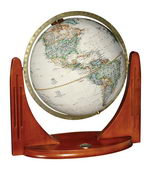 12in National Geographic Compass Star Desk Globe Antique Ocean - CRP1692