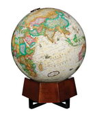 12in FRANK LLOYD WRIGHT Beth Sholom Deluxe Table Top Globe Antique Ocean - CRP1791
