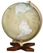 12in Discovery Desk Globe Antique Ocean - CRP1809