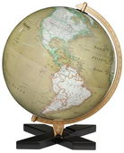 12in Discovery Expedition Deluxe Black Desk Globe Antique Ocean - CRP1815