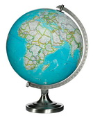 12in Replogle National Geographic Bartlett Deluxe Blue Desk Globe - CRP1856