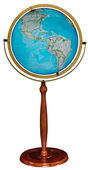 16in National Geographic Chamberlin Deluxe Floor Globe Blue Ocean - CRP1821