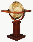 16in FRANK LLOYD WRIGHT Deluxe Antique Ocean Floor Globe - CRP1035