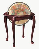 16in Replogle Queen Anne Deluxe Illuminated Antique Floor Globe - CRP1269