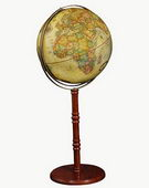 16in Replogle Commander Deluxe Antique Floor Globe - CRP1071