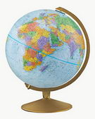 12in Replogle Explorer English Educational Desk Globe (Blue-English Text) - CRP1092