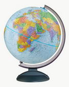 12in Replogle Traveler Deluxe Educational Blue Desk Globe - CRP1095