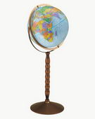 12in Replogle Treasury Blue Floor Globe - CRP1107