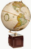 12in FRANK LLOYD WRIGHT Four Square Deluxe Antique Ocean Desk Globe - CRP1113