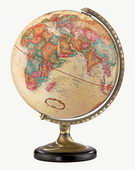 12in Replogle Sierra Deluxe Antique Desk Globe - CRP1125