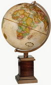 12in FRANK LLOYD WRIGHT Glencoe Deluxe Antique Ocean Desk Globe - CRP1134