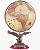 12in Replogle Freedom Deluxe Antique Desk Globe - CRP1143