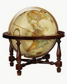 12in Replogle Colonial Deluxe Antique Desk Globe - CRP1146