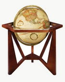 12in FRANK LLOYD WRIGHT San Marcos Deluxe Antique Ocean Desk Globe - CRP1152