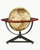 12in FRANK LLOYD WRIGHT Antique Ocean Desk Globe - CRP1155