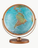 12in Replogle Atlantis Educational Blue Desk Globe - CRP1161