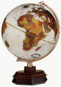12in FRANK LLOYD WRIGHT Usonian Deluxe Bronze Metallic Desk Globe - CRP1179