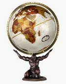 12in Replogle Atlas Deluxe Bronze Desk Globe - CRP1185