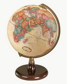 9in Replogle Quincy Antique Desk Globe - CRP1245