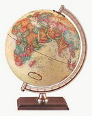 9in Replogle Forester Antique Desk Globe - CRP1251