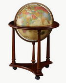 16in Replogle Lafayette Deluxe Antique Illumnated Floor Globe - CRP1266