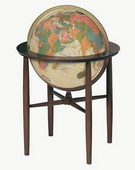 16in Replogle Austin Antique Illuminated Floor Globe - CRP1272